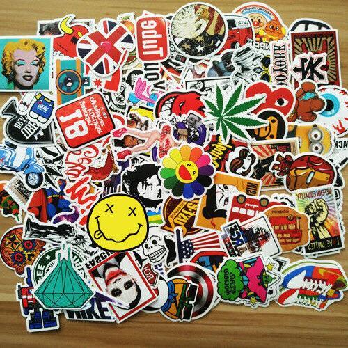 25/50/100/200pcs Skateboard Sticker Graffiti Laptop Car Lugg