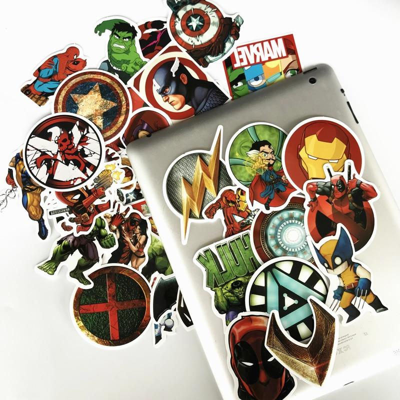 NEW Marvel Classic Toy Laptop Luggage Waterproof Funny Stickers For