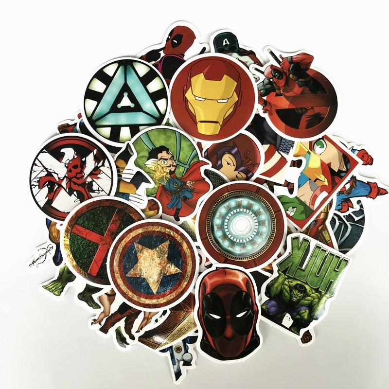 NEW Marvel Classic Stickers Laptop Waterproof Stickers For