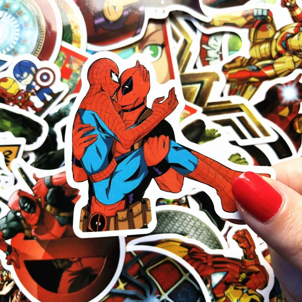 New Marvel Classic Stickers Laptop <font><b>Decal</b></font> Waterproof For