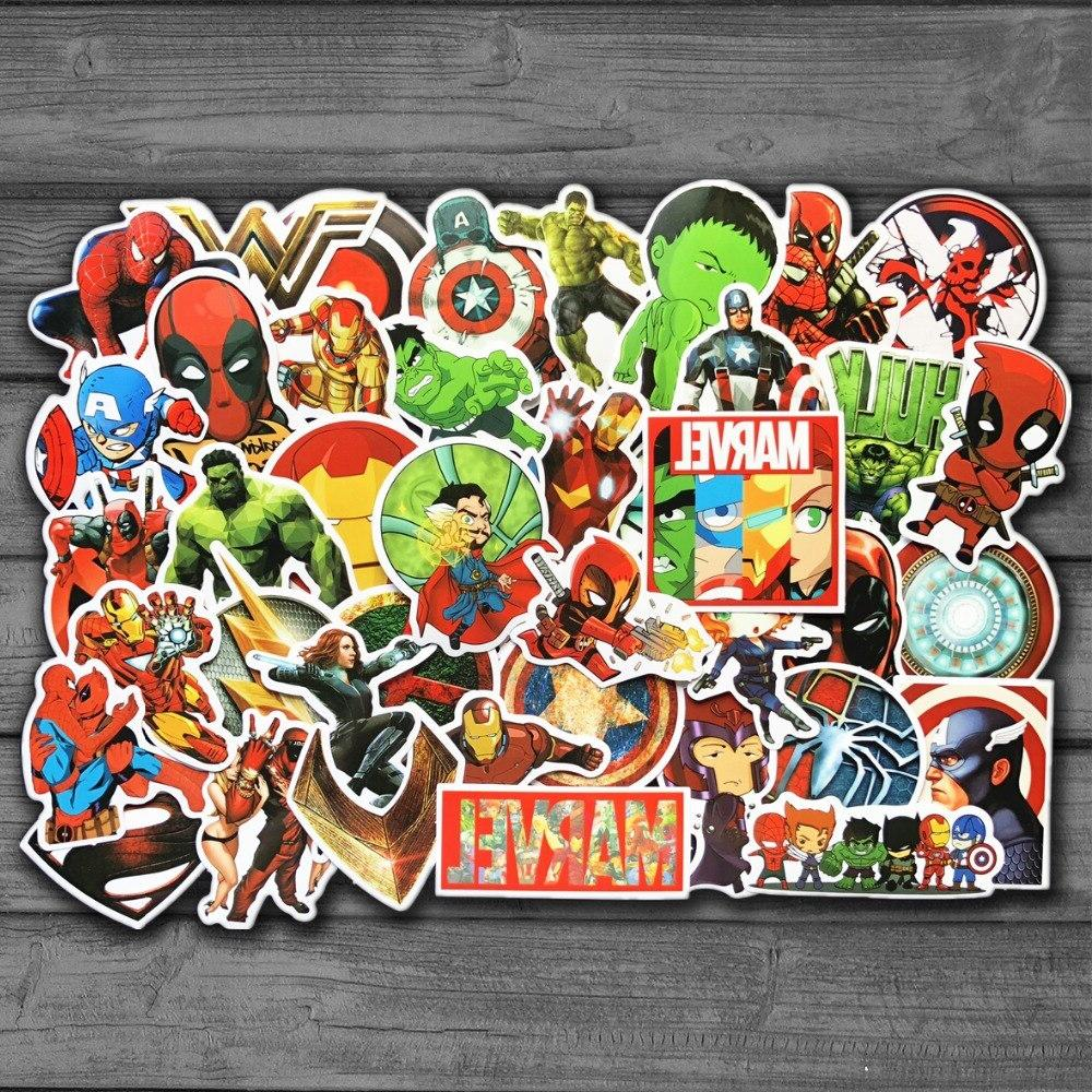 new 50pcs lot marvel anime classic stickers