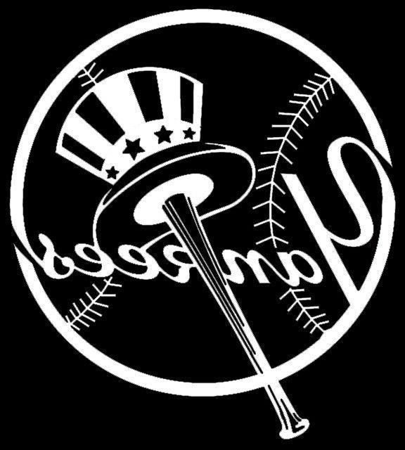 New York Yankees Decal Logo - Vinyl Window Car Decal - Lapto