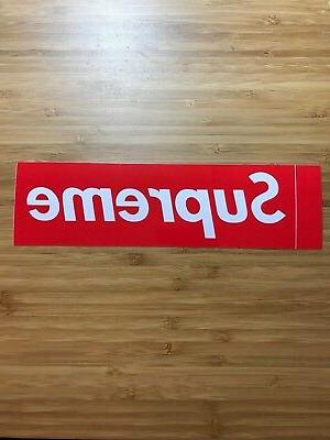 ONE Box Logo Supreme New York Sticker BOGO NY Red Vinyl Decal Laptop Luggage