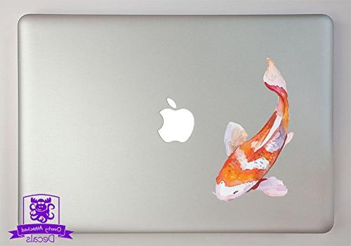 orange white watercolor koi fish