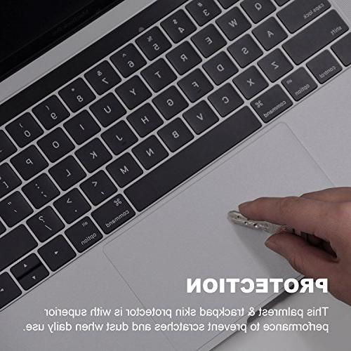 FORITO Palm Rest Skin with Trackpad Protector for New 13 MacBook Pro & A1708 without Touch
