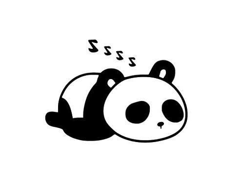 panda sleeping jdm decal vinyl