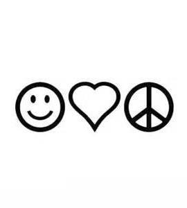 peace sign love heart happy