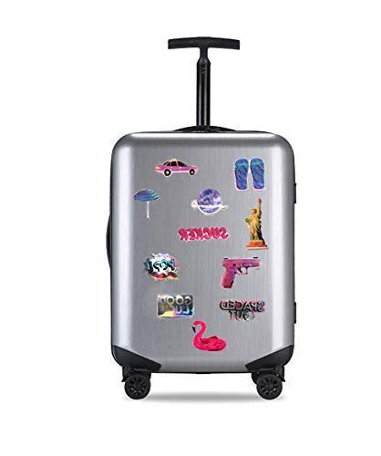 Godecal 80 Laptop for Cute Stickers for Laptop Skateboard Waterproof Stickers Rainbow Unicorn Lollipop Laser