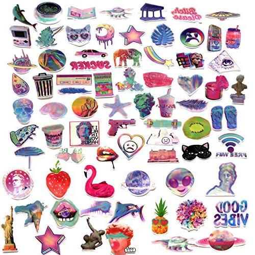 Godecal Pack Laptop Cute Skateboard Luggage, Waterproof Stickers Decal Lollipop Stickers