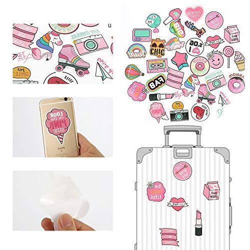 50PCS Lollipop Sticker, Bosiwee Cute Cartoon Waterproof Removable Vinyl Party Favors Decal Stickers Girl Supplies Decorations
