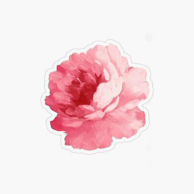pink peony flower laptop sticker bottle macbook