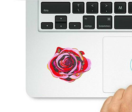 pink red rose colorful laptop