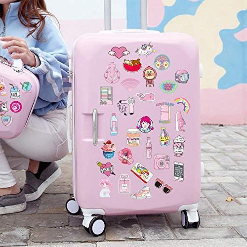 Pink Sticker Pack Pop Laptop Skateboard,Bike,Luggage,PS4,Xbos Girls Decal-Waterproof