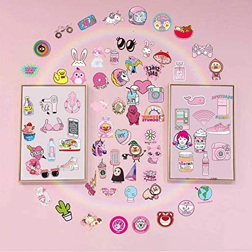 Pink Sticker Pack Pop Laptop Party Girls Decal-Waterproof