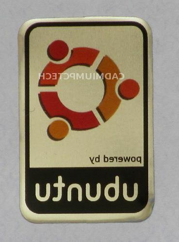 Powered by ubuntu Linux Metal Decal Sticker Case Computer PC Laptop Badge