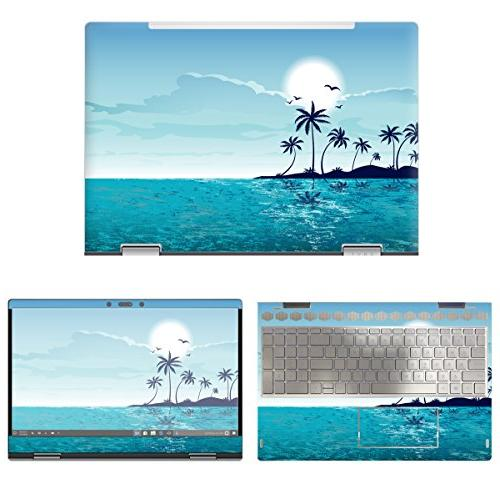 protective decal beach skin sticker for hp