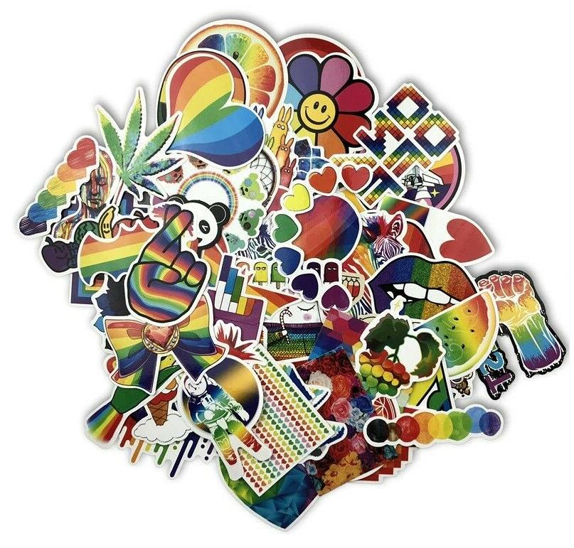 Psychedelic PVC Pack Lot, Skateboard Vinyl Decal