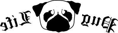 Pug Life vinyl decal puppy dog animal thug funny crazy stick