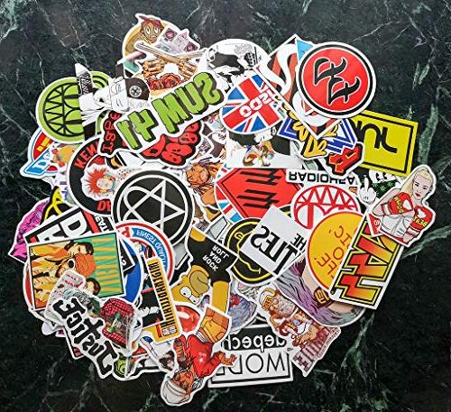 Punk Rock 160PCS and Music Vinyl Waterproof Decals Electric Bass Laptop Motorcycle