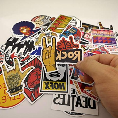 Punk Band and Music Vinyl for Laptop Skateboard Motorcycle