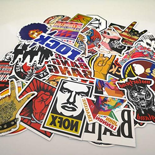Punk Rock Band Stickers 160PCS Pack and Music Electric Guitar Bass Laptop