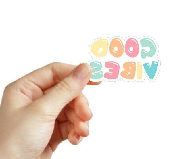 q012 good vibes sticker vsco sticker laptop