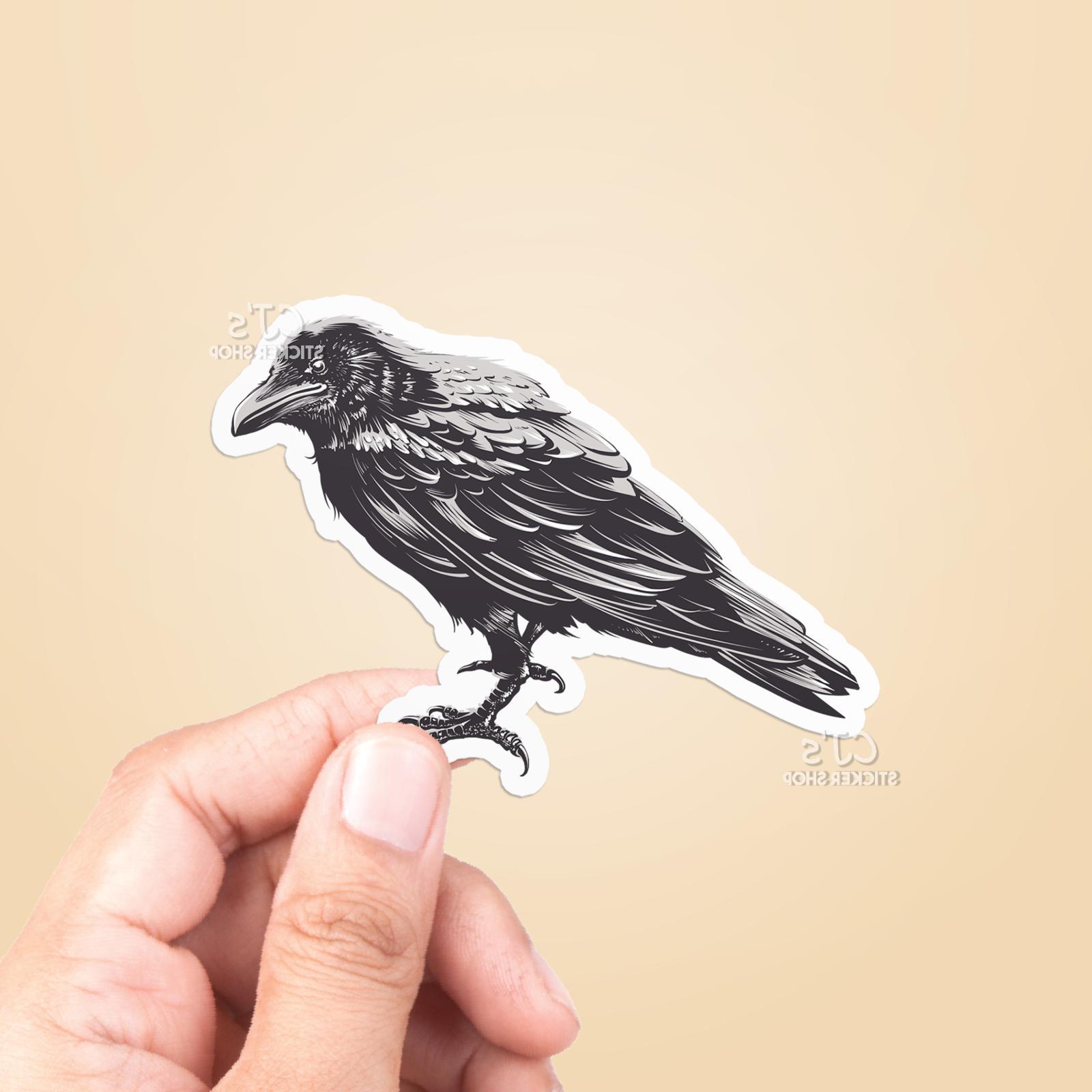 raven vinyl sticker laptop sticker water bottle