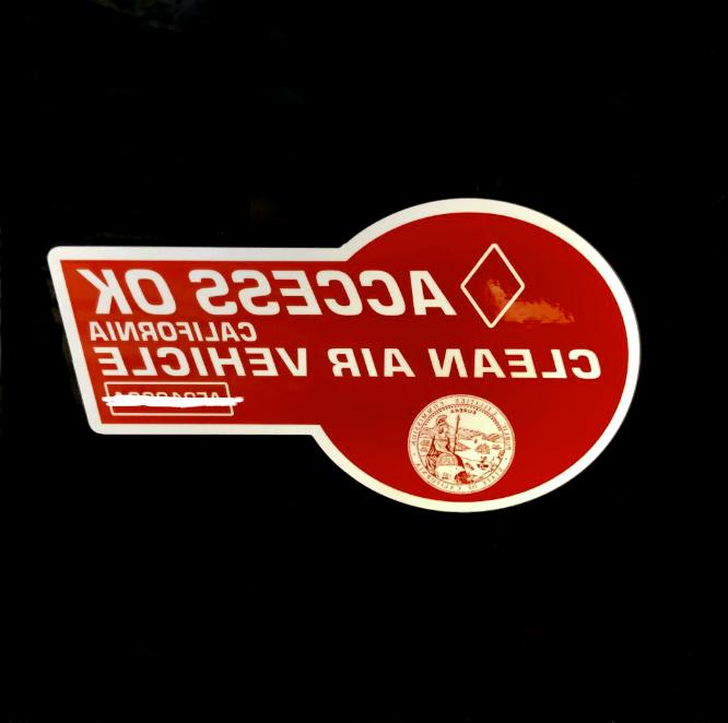 RED carpool sticker hov decal Novelty for laptop *NEW