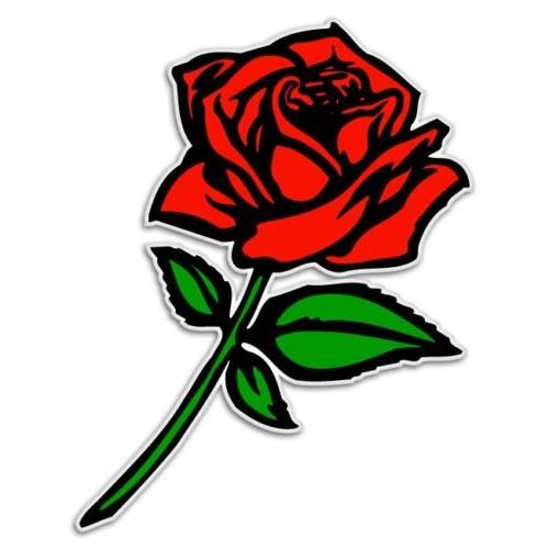red rose car bumper laptop auto wall decal sticker rr 005