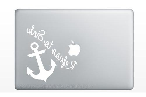 Refuse to Sink Anchor Quote Vinyl Decal Stickers for MacBook Laptop Car  Love Forever Birds Always Relationships Feathers Peace Tough Strength  Strong ...