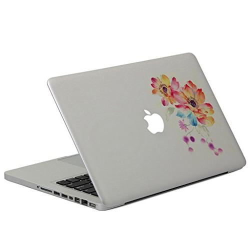 H4S Removable Decorative MacBook Mac Cover for Apple A1466 Flowers Pattern