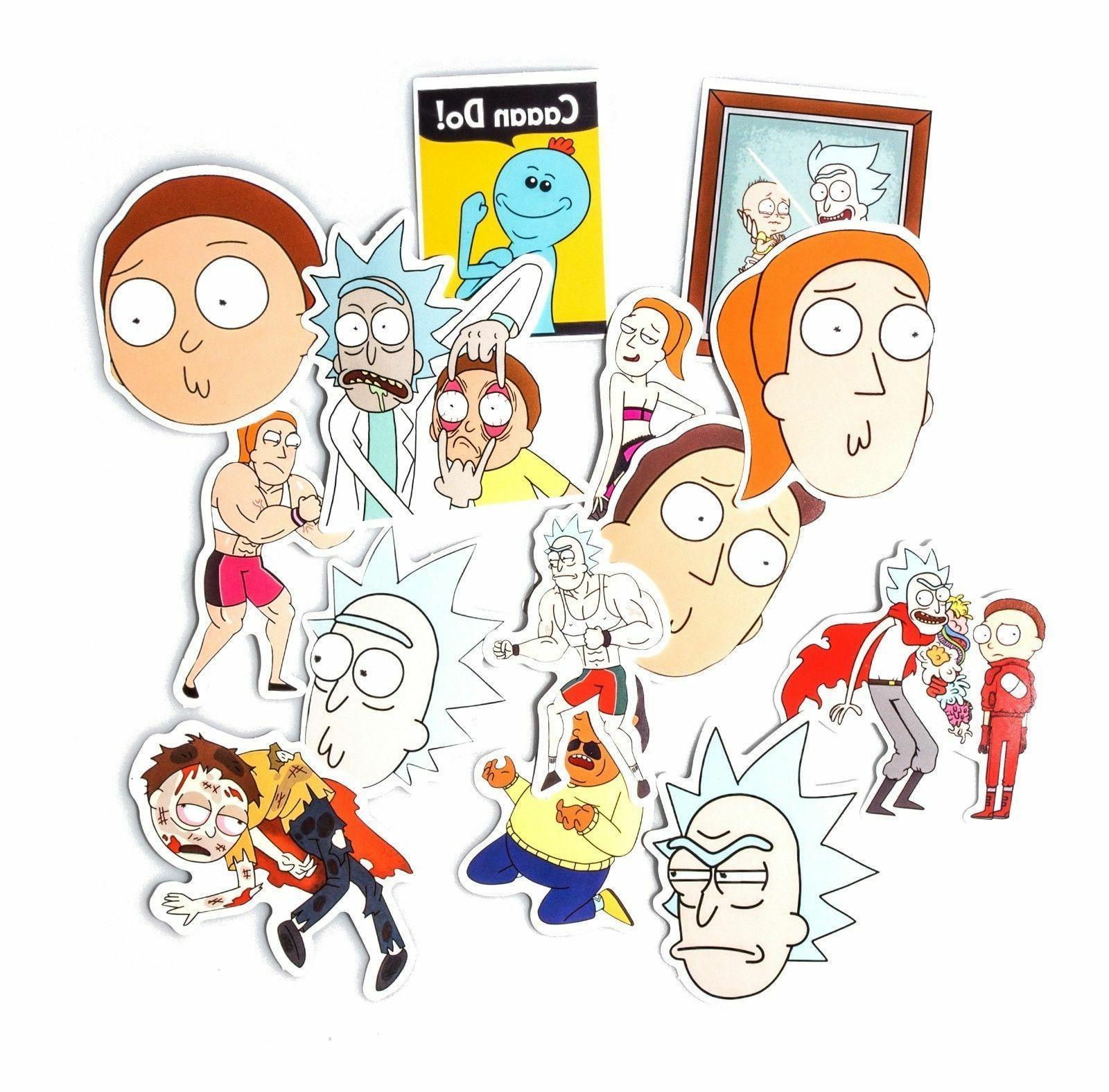 Rick And Morty 35 Pcs Sticker Adult Cartoon Vinyl Laptop