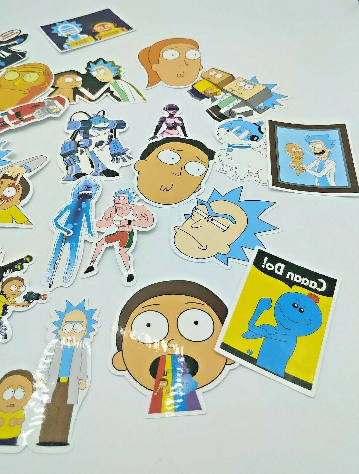 Rick Morty Pcs Sticker Skateboard Laptop FREE