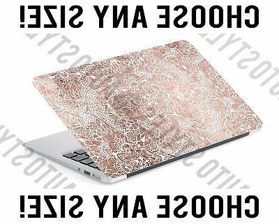 rose gold bohemian medallion laptop skin decal