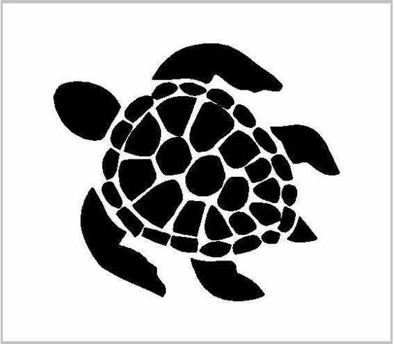 Sea Turtle Sticker Decal Cartoon Vinyl Sticker Laptop Car Wi