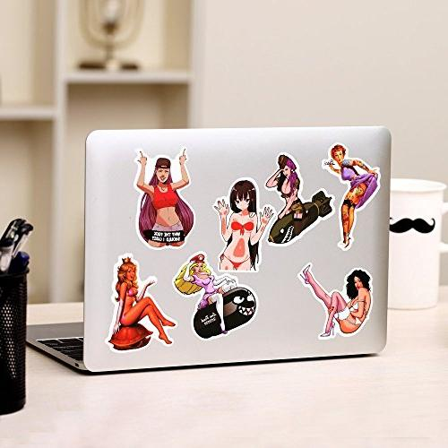 FNGEEN Stickers Pack Laptop Beauty Pinup and Decals Retro Stickers For Luggage Skateboard Phone Guitar Car Bike