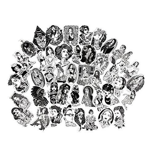 sexy women stickers pack black and white