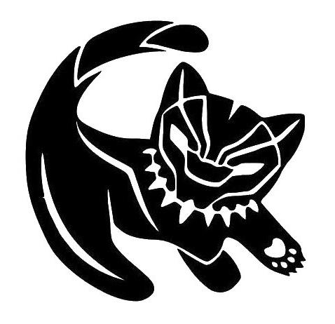 simba black panther decal vinyl