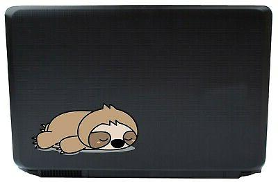 sleepy sloth sticker decals laptop automotive netbook