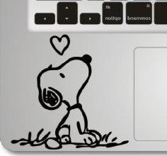 Snoopy Love Wrist Decal for Macbook