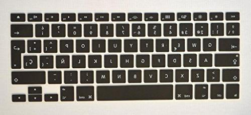 spanish silicone keyboard cover protective