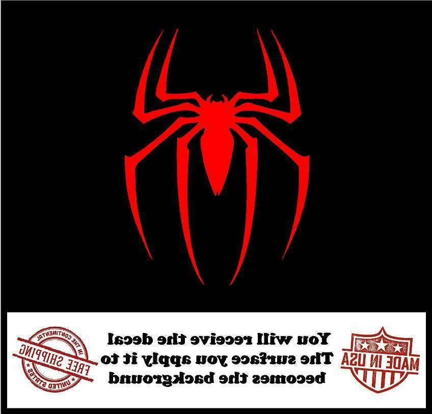 Spiderman Logo Cut Decal Truck Laptop Sticker