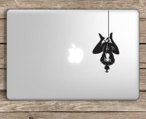 Spiderman Hanging Marvel Superhero - Apple Macbook Laptop Decal