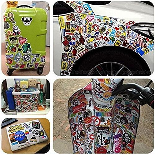 Sticker Pack Vinyl for Bottles,Laptop,Kids,Cars,Motorcycle,Bicycle,Skateboard Hippie Decals bomb
