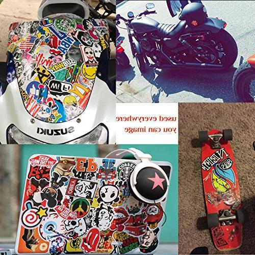 Sticker 100Pcs,KONLOY Waterproof Vinyl for Bottles,Laptop,Kids,Cars,Motorcycle,Bicycle,Skateboard Luggage,Bumper Stickers Hippie Decals bomb