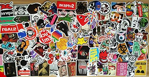 Sticker Pack ,Sanmatic Decals Laptop,Cars,Motorcycle,Bicycle,Skateboard Luggage,Bumper Stickers Hippie Bomb Waterproof