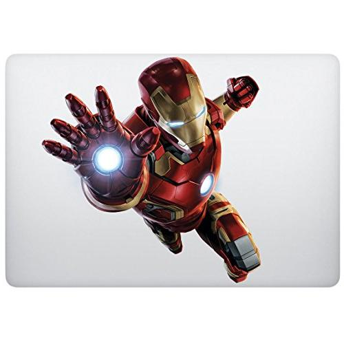 Sticker decal with Iron Man design, Computer Sticker,