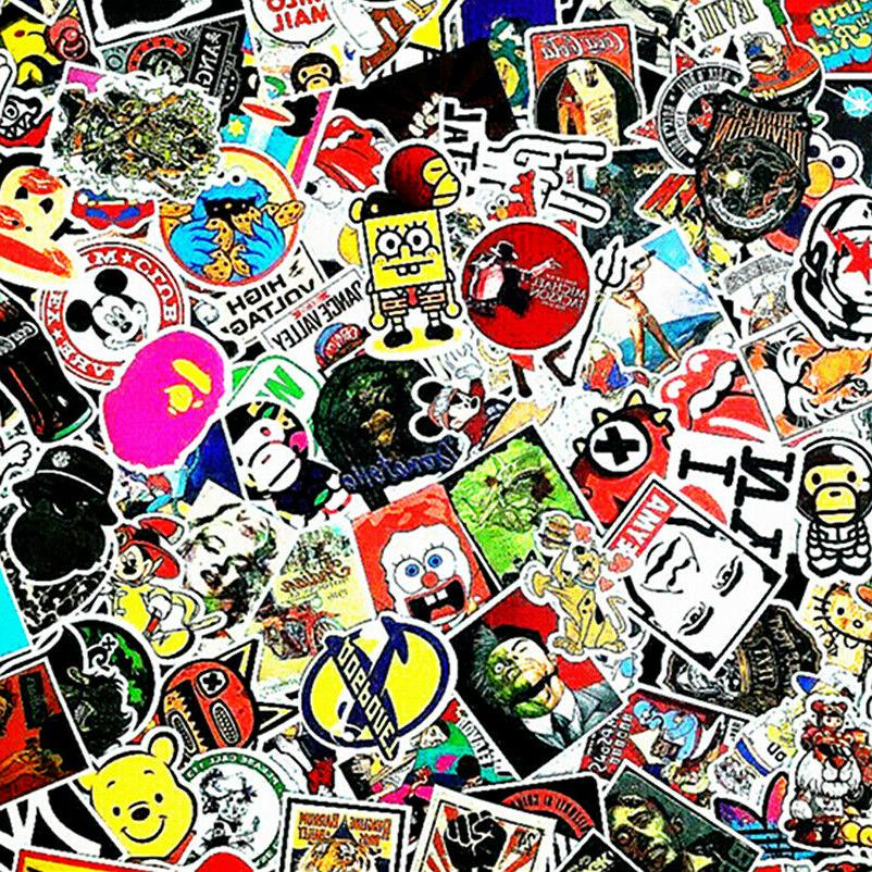 stickers 100 skateboard laptop decals luggage dope
