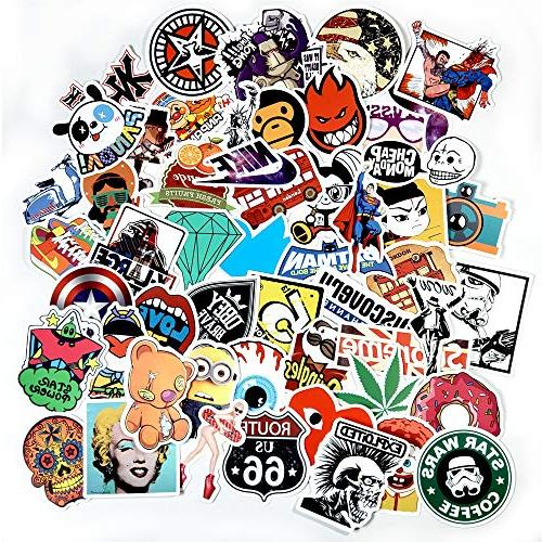 JTL Stickers Pack,Bunch of Brand Anime Movies Graffiti Video Games Hypebeast Cartoon Vinyl Stickers Decals Laptop MacBook,Cars Bumper,Motorcycle,Bicycle,Skateboard,Luggage