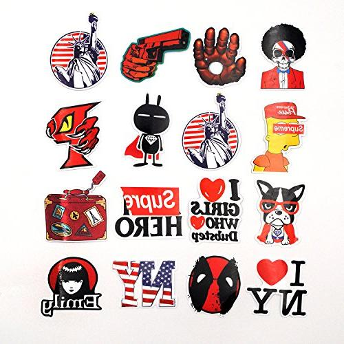 Cars Bumpers Bikes Skateboards Red Storm ZONTOR Stickers,100pcs Cool Vinyls Graffiti Stickers for Personalize Laptops,PC Pack of 100 Luggage Bicycles
